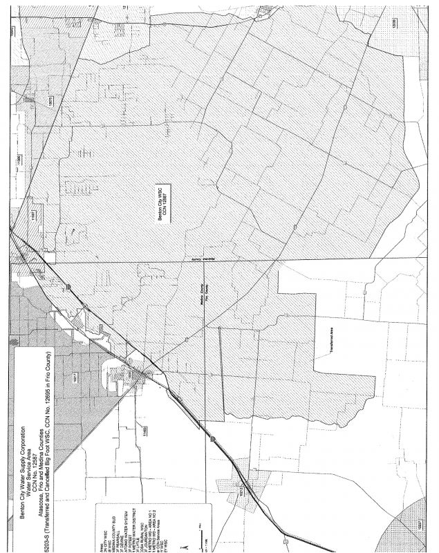 Benton City WSC Service Area Map